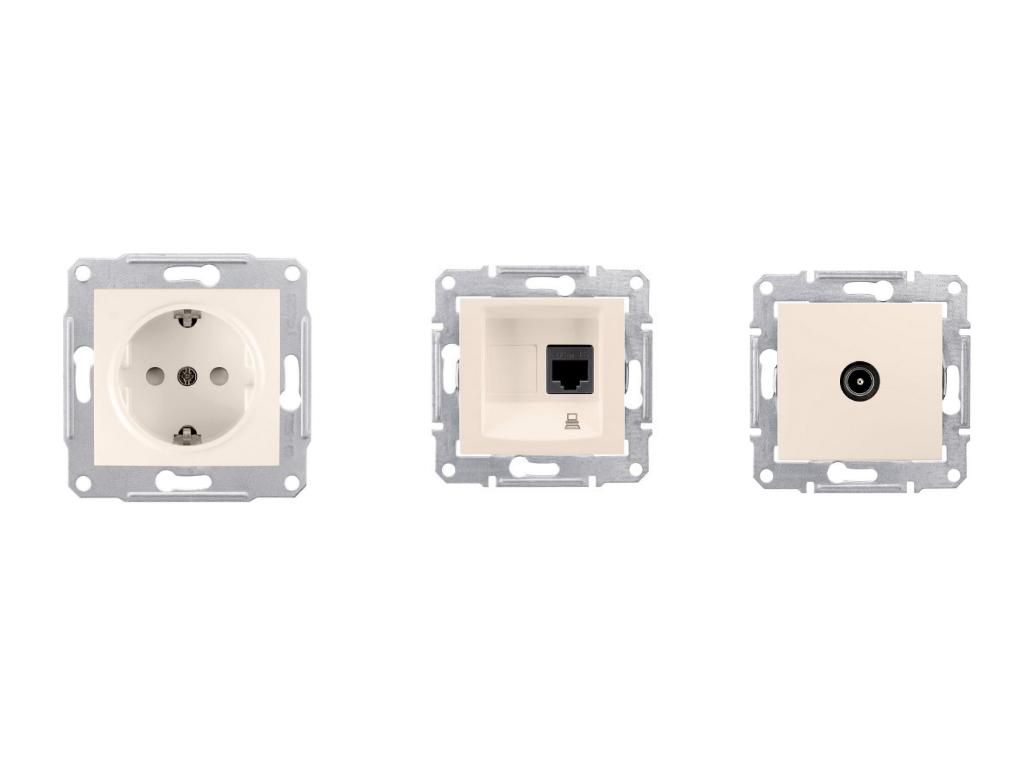 Розетки Schneider Electric Sedna купить недорого - интернет-магазин ... 062a60fd43c