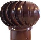 Дефлектор из оцинкованной стали под канал Ø120 (коричневый)