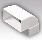 612КВП, Колено вертикальное 90° для прямоугольных воздуховодов, пластик 60х120 - Эра