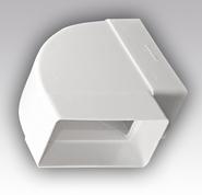 612КГП, Колено горизонтальное 90° для прямоугольных воздуховодов, пластик 60х120 - Эра