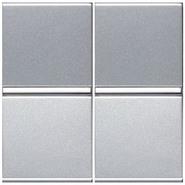 Выключатель 2 кл - серебро, ABB Zenit (2 х N2101 PL)
