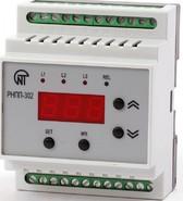 Реле напряжения РНПП-302 трехфазное регулируемое, на DIN-рейку, вольтметр, Новатек-Электро (3425600302)