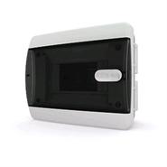 Tekfor бокс 6 модулей встраиваемый IP40 прозрачная черная дверца нажимной, 182х150х103