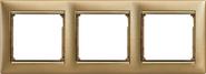 Рамка 3 поста (трехместная) Legrand Valena Матовое Золото