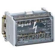 Legrand Шина на DIN-рейку в корпусе (кросс-модуль) 2Px7 контактов 100А (004880)