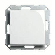 Кнопочный переключатель одноклавишный белый глянцевый Gira System 55 (015600/029603)