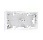 Valena Коробка накладная для настенного монтажа 2поста - белый