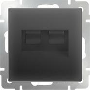 Werkel Розетка двойная Ethernet RJ-45 (черный матовый)