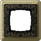 Установочная рамка 1 пост. бронза-черный, ClassiX Art (0211662)