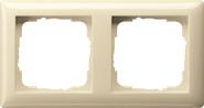 Установочная рамка 2-местн. Standard 55 глянцевый кремовый