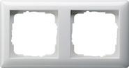 Установочная рамка 2-местн. Standard 55 глянцевый белый