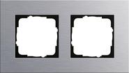 Установочная рамка 2 поста. алюминий, Esprit (021217)