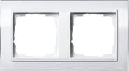 Рамка 2 поста. Белый-белый глянцевый Gira Event Clear (0212723)