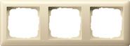 Установочная рамка 3-местн. Standard 55 глянцевый кремовый