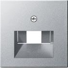 Накладка информационной розетки (лицевая панель), алюминий, Gira System 55 (027026)