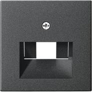 Накладка информационной розетки (лицевая панель), глянцевый белый, Gira System 55 (027028)