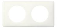 Legrand Celiane Двухместная рамка (белый глянец)
