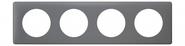 Legrand Celiane Четырехместная рамка (фиолетовая перкаль)