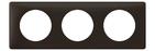 Legrand Celiane Трехместная рамка (черная перкаль)