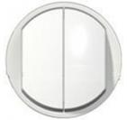 Legrand Celiane Лицевая панель выключателя двухклавишного (белый)