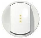 Legrand Celiane Лицевая панель выключателя одноклавишного с подсветкой (белый)