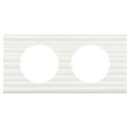 Legrand Celiane Двухместная рамка (белый рельеф)
