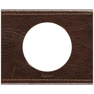 Legrand Celiane Одноместная рамка (кожа коричневая)