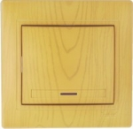 Выключатель одноклавишный с подсветкой Ольха Lezard MIRA