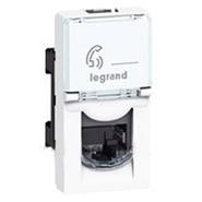 Розетка телефонная RJ11 1 модуль 4 контакта Legrand Mosaic