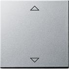 Накладка клавиши управления жалюзи, функция памяти, подключение датчиков, алюминий, Gira System 55 (082226)