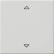 Накладка клавиши управления жалюзи, функция памяти, подключение датчиков, матовый белый, Gira System 55 (082227)