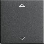 Накладка клавиши управления жалюзи, функция памяти, подключение датчиков, антрацит, Gira System 55 (082228)