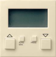 Накладка системы электронного управления жалюзи easy, глянцевый кремовый, Gira System 55 (084101)