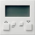 Накладка системы электронного управления жалюзи easy, глянцевый белый, Gira System 55 (084103)