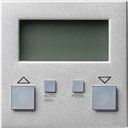 Накладка системы электронного управления жалюзи easy, алюминий, Gira System 55 (084126)