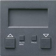 Накладка системы электронного управления жалюзи easy, антрацит, Gira System 55 (084128)