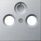 Накладка для коаксиальной антенной розетки, алюминий, Gira System 55 (086926)