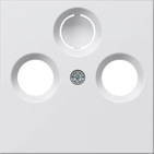 Накладка для коаксиальной антенной розетки, матовый белый, Gira System 55 (086927)