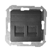 Simon 82 Розетка компьютер+телефон RJ11-RJ45 (графит)