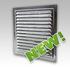 Решетка вентиляционная оцинкованная с сеткой 125х125