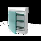 Бокс настенного монтажа, 54 модуля, зеленая прозрачная дверь, с клеммами, IP41, Mistral W - ABB
