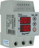 Реле напряжения с контролем тока 40A однофазное (3 мод.) DigiTop
