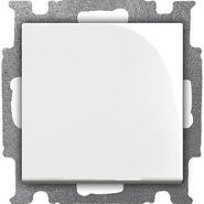 Выключатель 1 кл. кнопочный, альпийский белый, ABB Basic 55 (1413-0-1080)