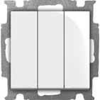 Выключатель 3 кл., альпийский белый, ABB Basic 55 (1012-0-2155)