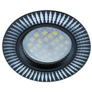Ecola MR16 DL3182 GU5.3 Светильник встр. литой (скрытый крепеж лампы) Черный/Алюм Рифленые Реснички по кругу 23x78