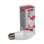 7W холодный (свеча). Лампа светодиодная LED 7вт E27 C37 (матовая) 6000К ELEGANZ (1030)