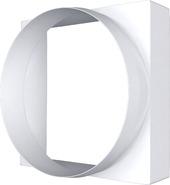 10КВ, Соединитель квадрата 100х100 с круглым воздуховодом пластик D100 - Эра