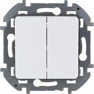 Выключатель 2 кл, 10 AX, 250 В - белый INSPIRIA 673620