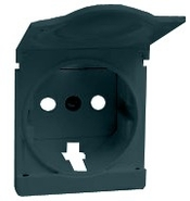 Simon 82 Лицевая панель 2к+з с защитным устройством и крышкой (графит)