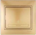 Выключатель одноклавишный проходной Золото Lezard MIRA